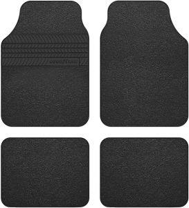 Goodyear: Alfombra de Moqueta con talonera de goma, color negro